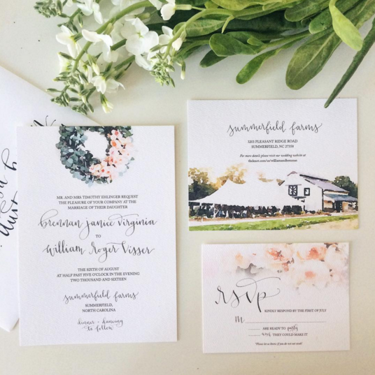 Brennan's Wedding Invites